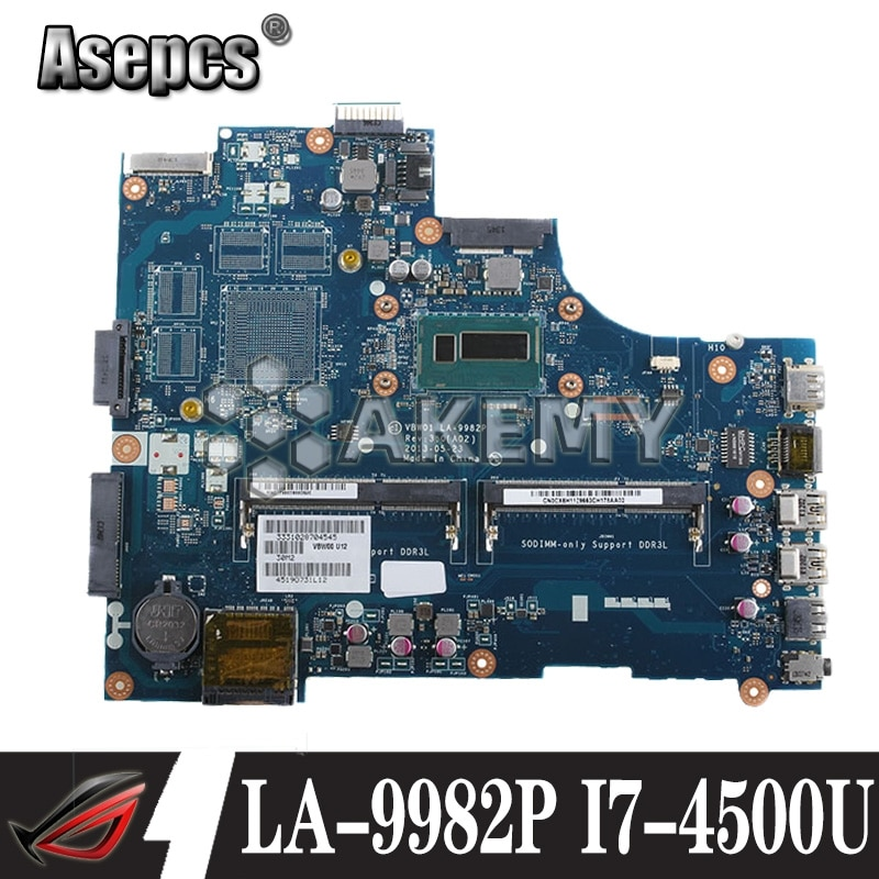 LA-9982P portátil placa base para Dell Inspiron 15R 5537 3537 placa base original de I7-4500U
