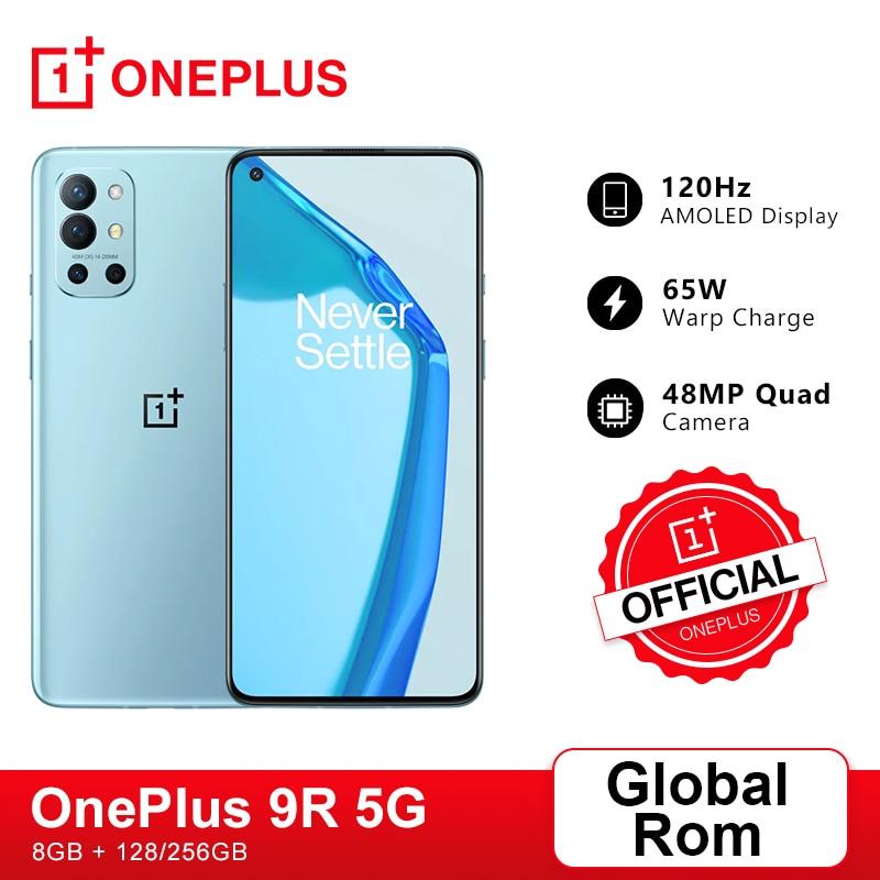 Глобальная прошивка OnePlus 9R 5G смартфон 9 R Snapdragon 870 8 ГБ 128 6,55 дюйм 120 Гц активно-матричные осид, Экран 65 Вт Warp OnePlus официального магазина Carter's, код: ...