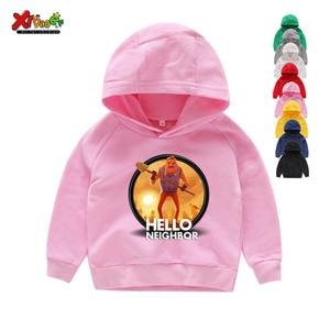 Kids Hoodies Sweatshirts Funny Clothes Boys Girls T Shirt Baby Casual Hoodies 2T-8T Child White Hoodies Sweatshirts fashion Tops