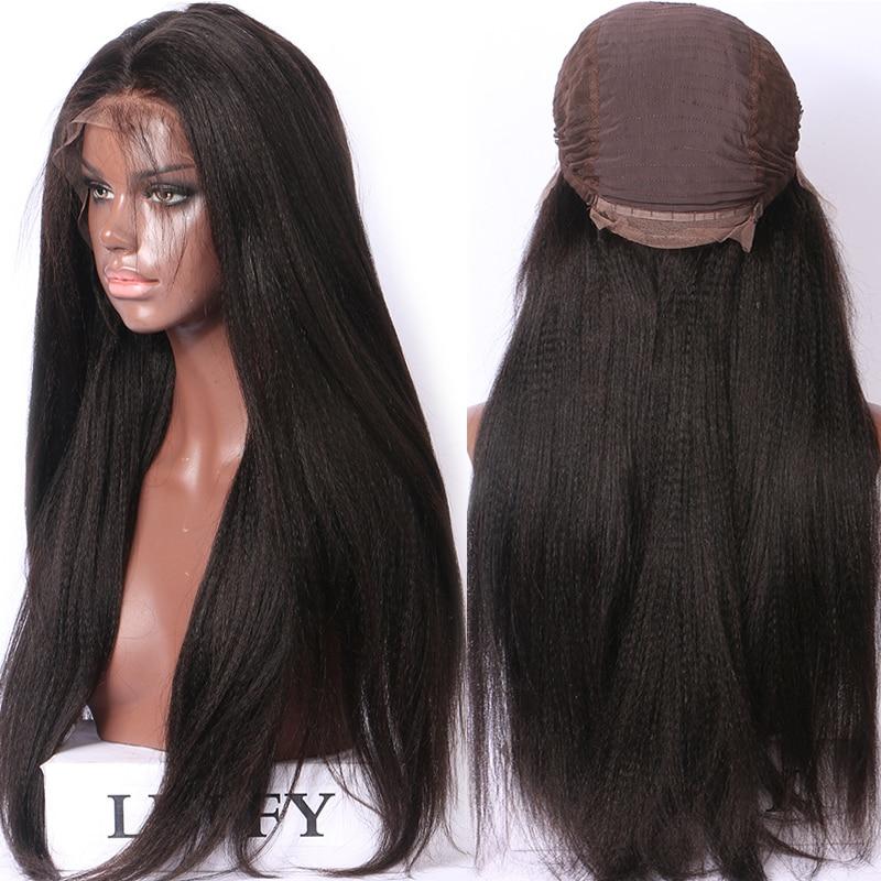 Волосы Remy LUFFYHAIR, 250% густота, светлые волосы Yaki, прямые 13х6, кружевные передние парики, бразильские предварительно собранные человеческие вол...