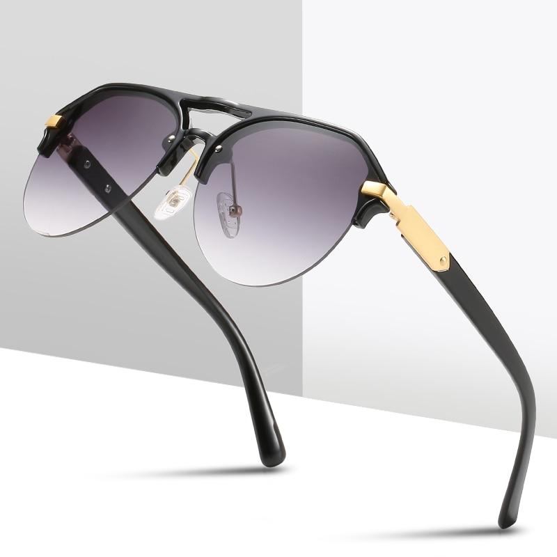 New Fashion Top Quality Classic Pilot Style Gradient Fishing Sunglasses Men Rivet Brand Design Sun G