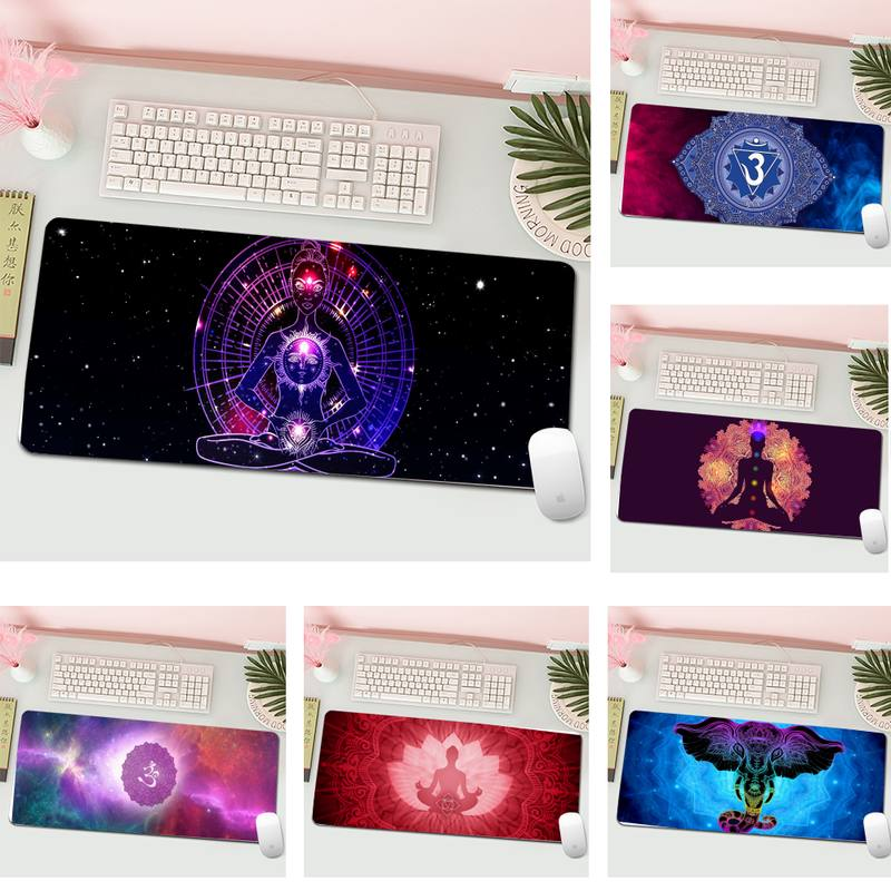 Chakra Symbols Gamer Speed Mice Retail Small Rubber Gaming Mousepad XL Large Keyboard PC Desk Mat Computer Tablet Mouse Pad