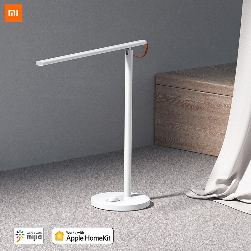 Lámpara de mesa inteligente Xiaomi Mijia 1S 4 modos de luz Lámpara de lectura regulable con Mi Home HomeKit APP Siri Control de voz