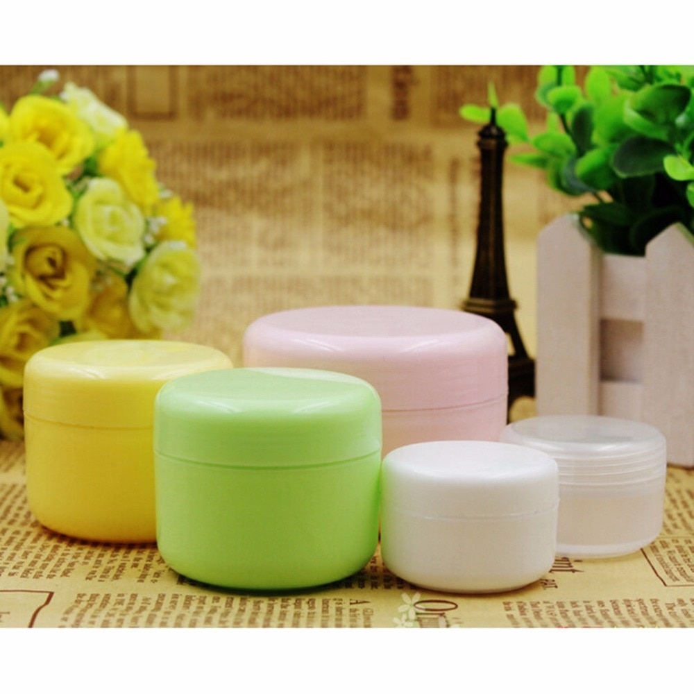 refillable bottles travel face cream lotion cosmetic container plastic empty makeup container jar pot 5pcs/lot empty Container Travel Face Cream Lotion Cosmetic Container Refillable Bottles Plastic Empty Makeup Tools