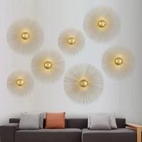 Applique circulaire en metal style retro  conception unique  decoration de la maison  luminaires pour salle a manger  lampe de chevet  eclairage mural