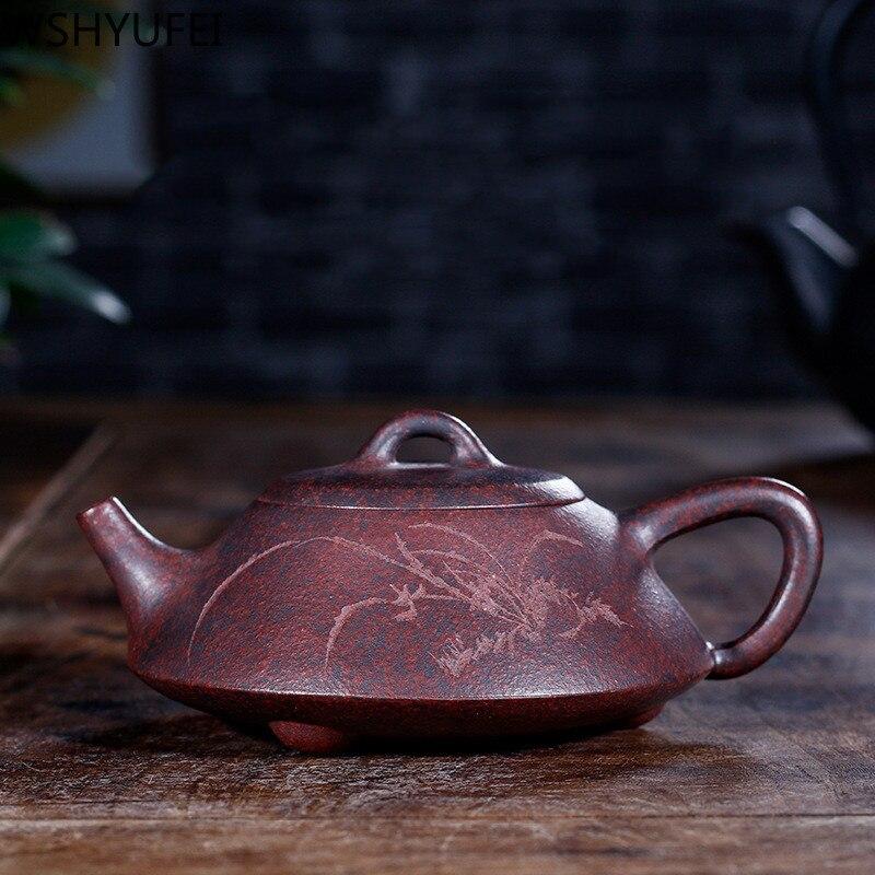 Tetera China Yixing, tetera de arcilla púrpura, beauties, tetera artesanal en bruto, Zisha mineral, regalos personalizados, auténticos 160ml
