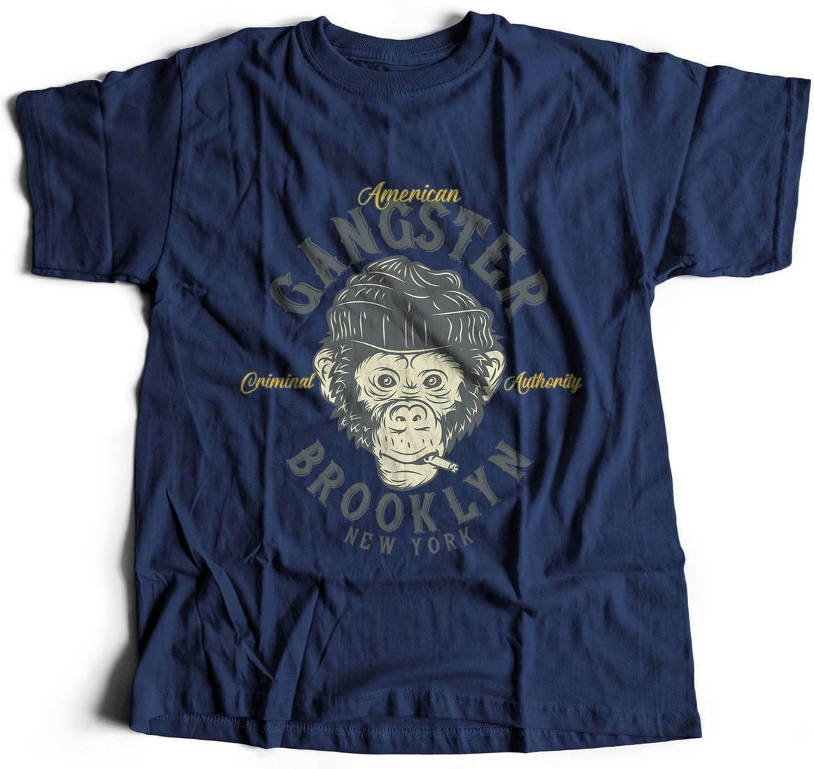 Gangster mono americano camiseta americano Thug vida miedo fe calle rebelde B296
