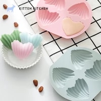 heart shaped madeline cake at home xiaoai heart shaped internet celebrity non stick silicone for baking chocolate soap mold