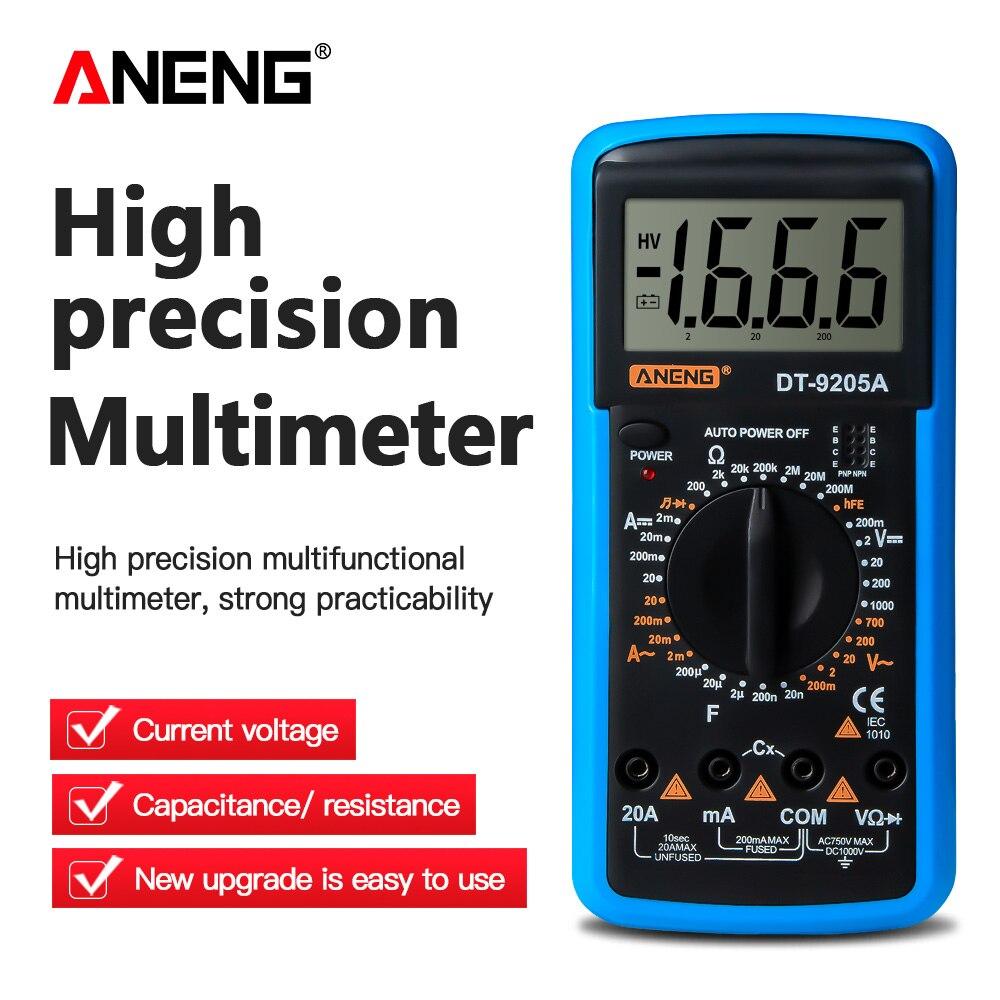 DT9205A polimetro tester multimetro digital medidor Digital multimetro Profesional de Transistor probador...