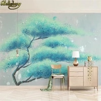 beibehang custom misty abstract tree wallpaper european modern living room decoration industrial tv background art wall covering