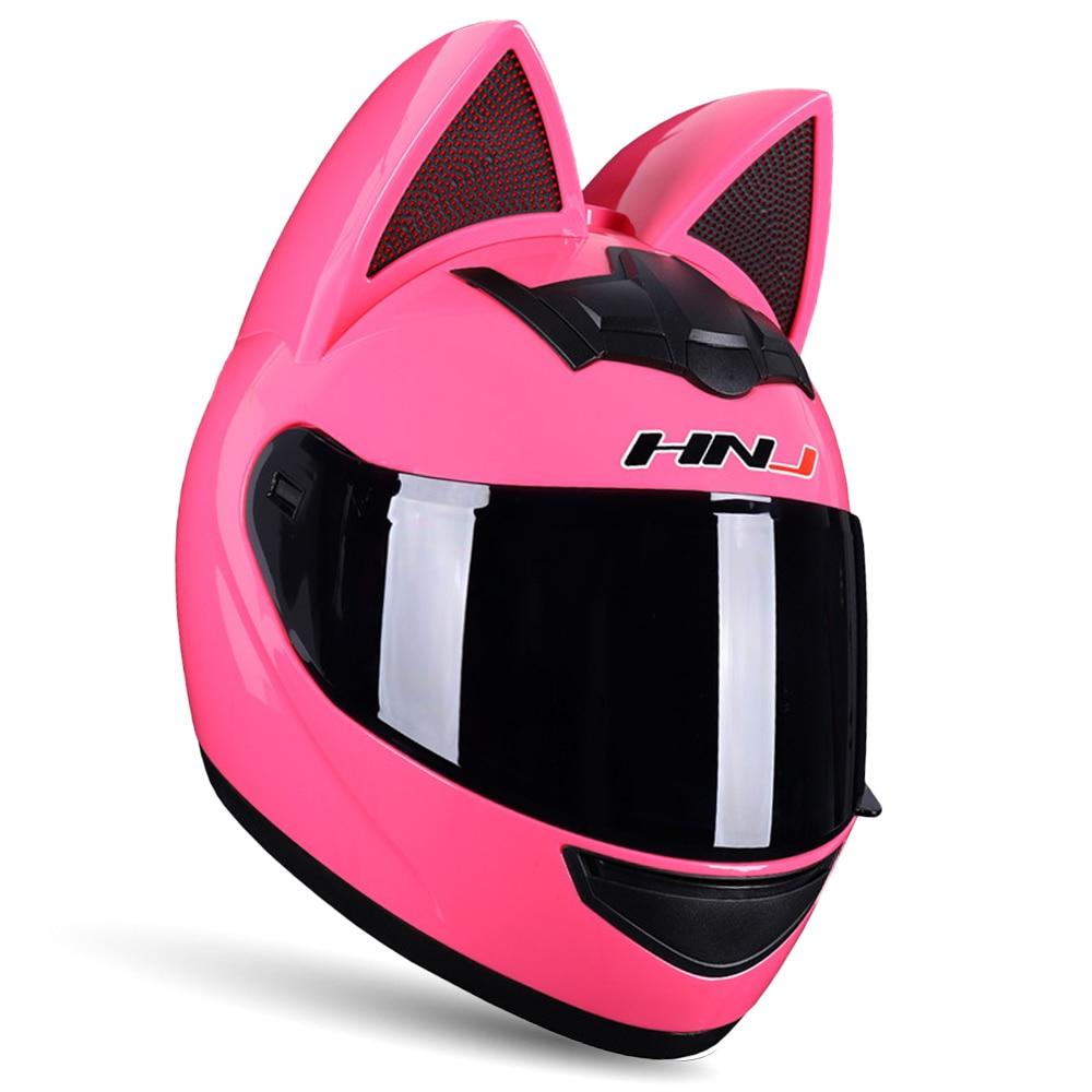 Capacete da motocicleta rosto cheio capacetes de moto motocross casco orelha moto capacetes da motocicleta casque capacete de moto feminino rosa