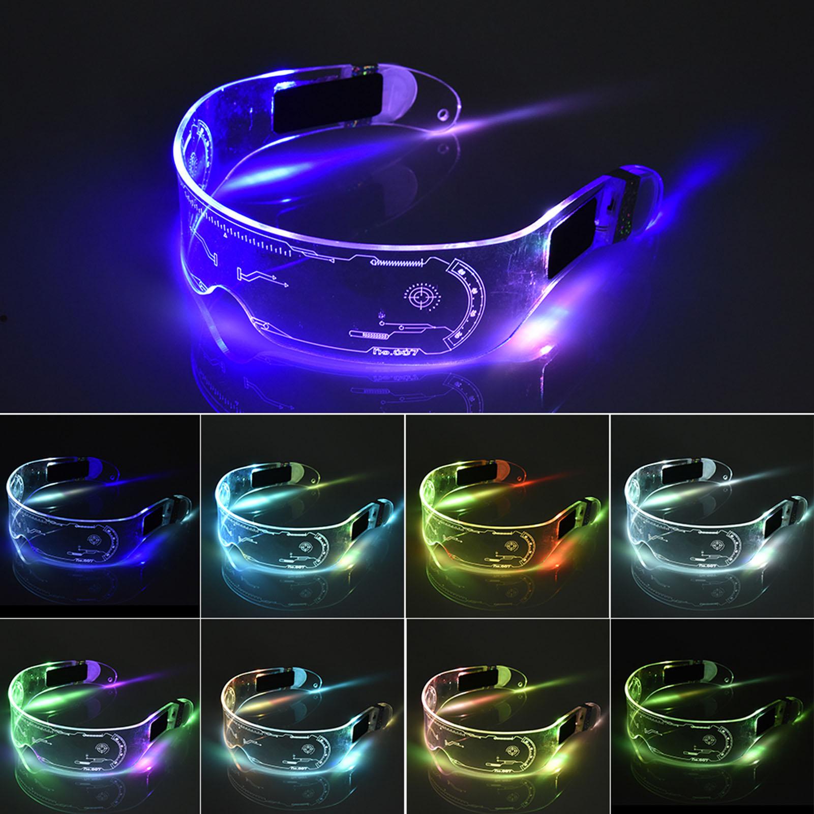 LED Luminous Glasses LED Glasses EL Wire Neon Light Up Visor Eyeglasses Bar Party EyeWare For Hallow