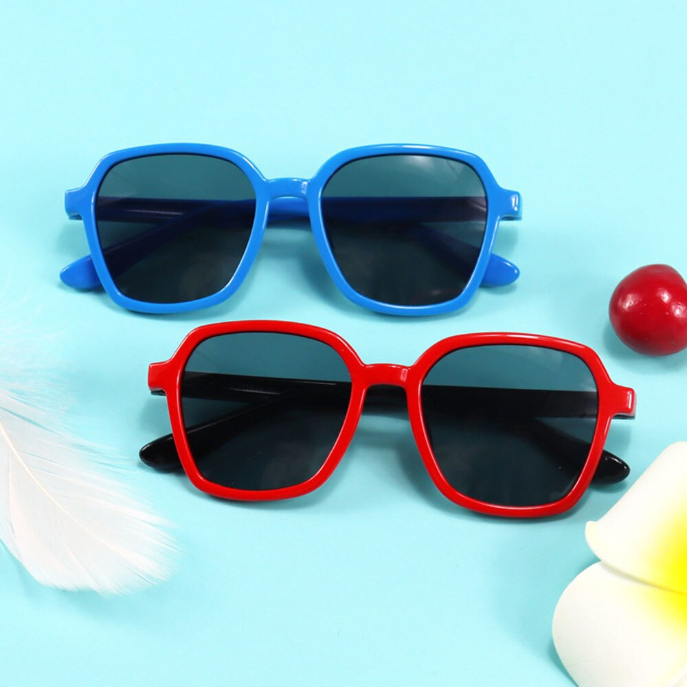 2021 New Fashion Kids Polarized Sunglasses Silicone Flexible Boys Girls Children Sunglasses Baby Sha