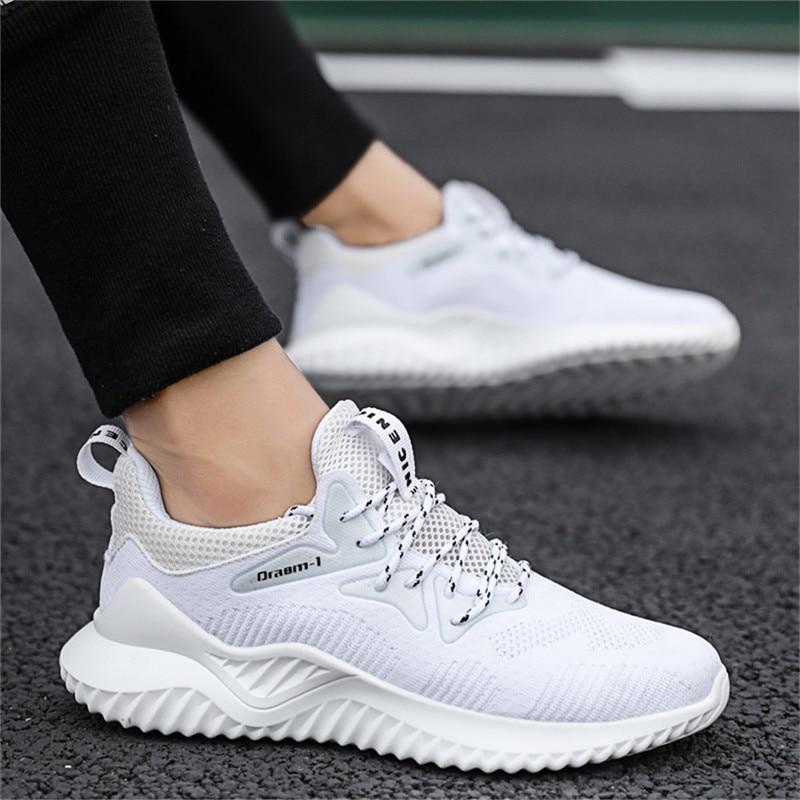 men's sneakers running shoes comfortable breathable tennis footwears platform lace-up inceasing height  zapatillas de deporte