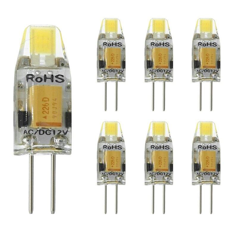 6 unids/lote G4 lámpara LED AC/DC atenuación 12V 3W COB bombilla reemplazar halógeno proyector de la lámpara LED luces