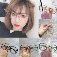 metal material jelly transparent anti blue light reading glasses frame ulralight polygon prebyopia eyeglasses optical spectacles