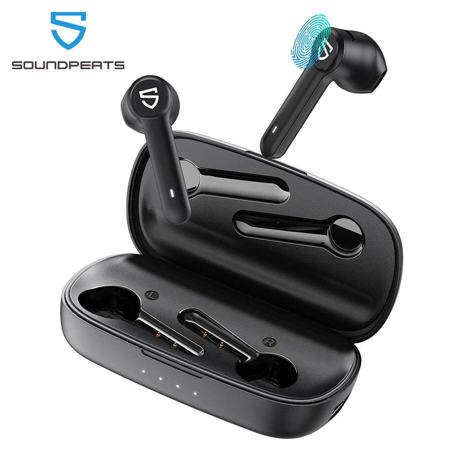 Auriculares inalámbricos SoundPEATS TureBuds True Bluetooth 5,0 Control táctil TWS con estuche de carga de 2600mah