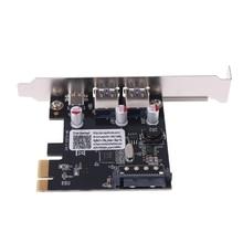 Carte dextension PCIE PCI Express vers USB 3.1 type-c 2 ports USB 3.0 type-a Q81E