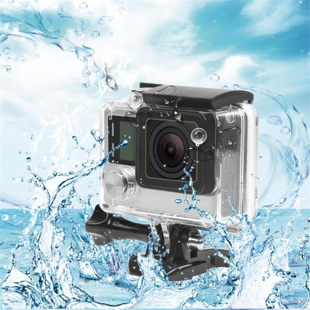 40m Underwater Waterproof Case Cover Housing for GoPro Hero 3+/4 Camera Protective Mount Go Action Pro