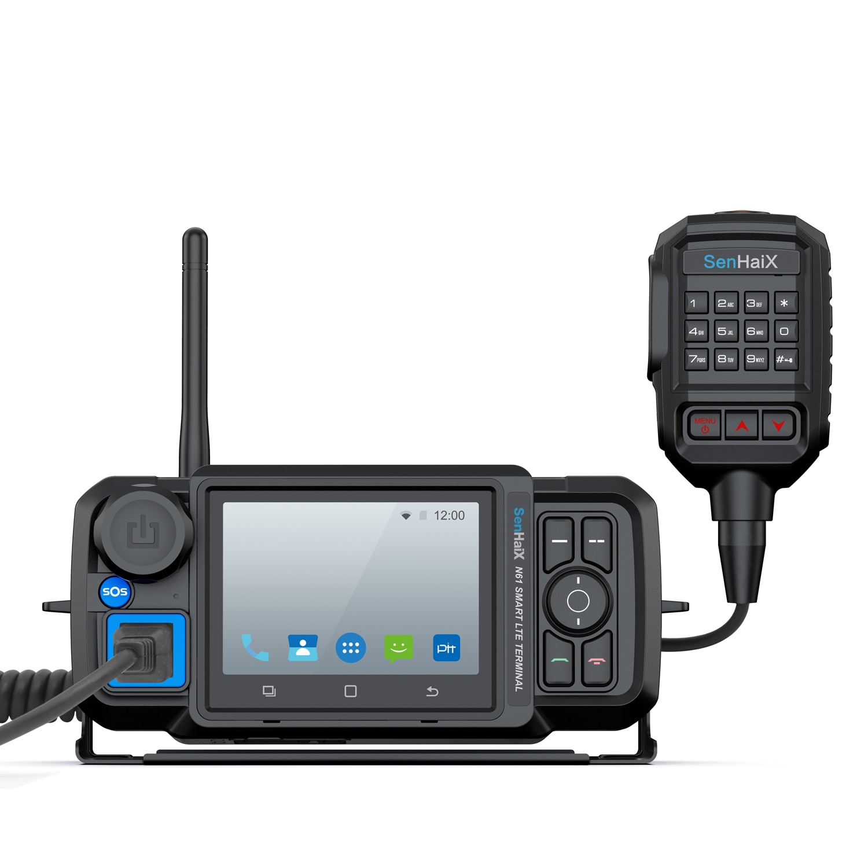 جهاز إرسال لاسلكي عالمي النطاق من Senhaix N61 يعمل بنظام الأندرويد يدعم 4G وخاصية الواي فاي داخل السيارة جهاز لاسلكي حقيقي يعمل بنظام PTT Zello مع شاشة ...