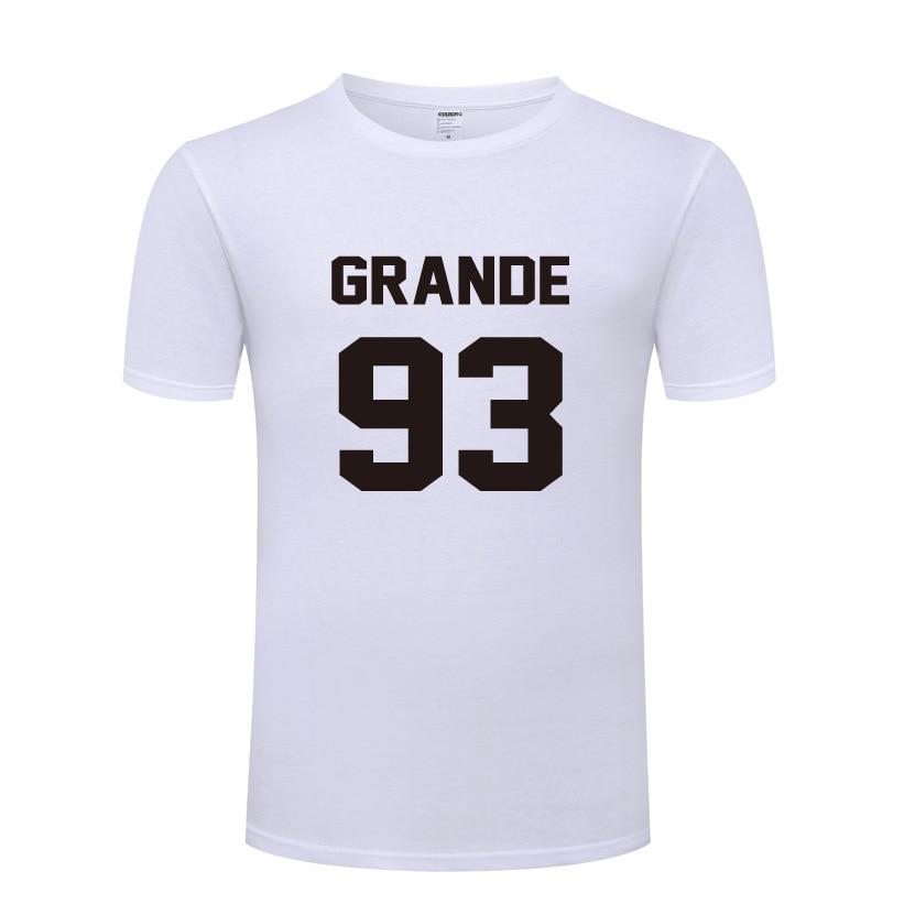 Música Ariana Grande 93 letra impresa hombres camiseta de Hip Hop camisetas hombres algodón manga corta Rock masculino Tops camisetas Fans ropa nueva