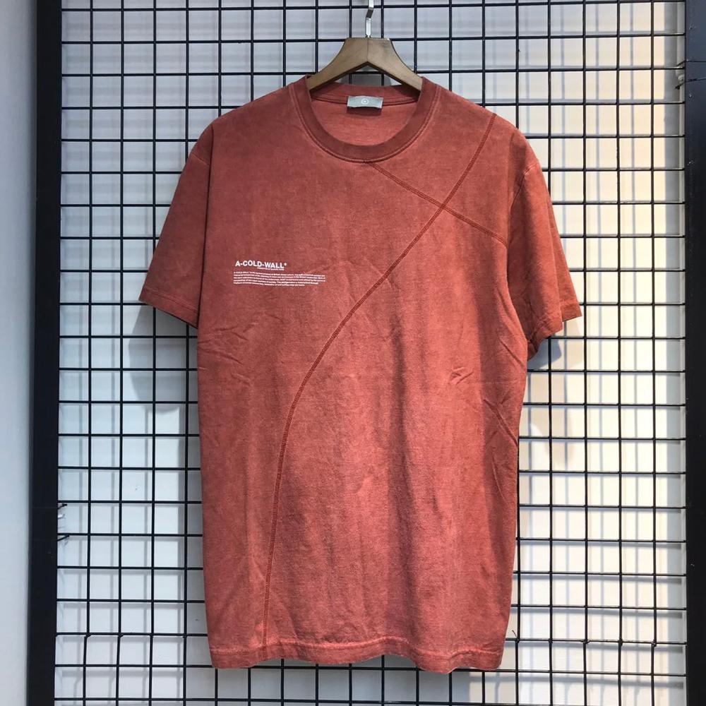Una pared fría camiseta Vintage hombres mujeres calidad una pared fría camiseta líneas cruzadas estilo ACW camisetas