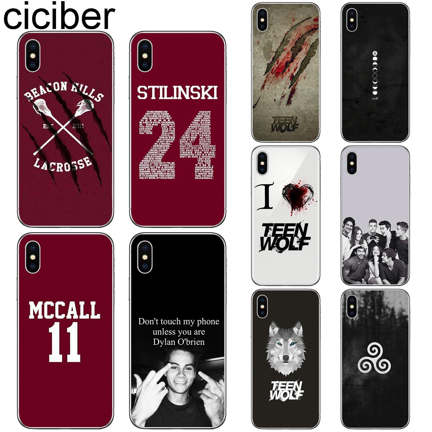 Cuciber teen wolf capa funda para iphone 7 8 6 s plus 5S se 11 pro max macio tpu caso de telefone para iphone x xs max xr coque capa