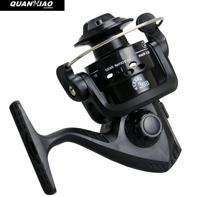 QuanMiao Professional Fishing Wheel 3 BB JL200 Series spinning fishing reel left/right interchanged enlarge