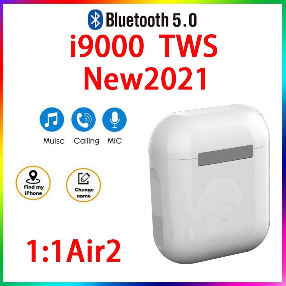 Original i9000 TWS 1:1 GPS nombre auriculares Bluetooth inalámbricos PKi7 i11 i14...