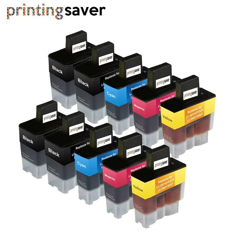 10 piezas cartucho de tinta LC900 LC950 L47 LC41 LC09 hermano MFC-210C 215C 3240 3240C 3240CN 410CN 425CN 5440CN 620CN 640CW 610CN