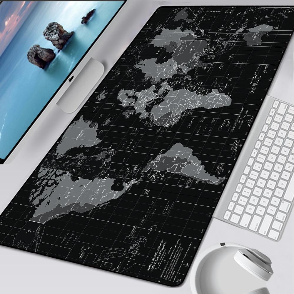 Alfombrilla para ratón grande con borde de bloqueo rápido XL Old World mapamundi, alfombrilla para ratón de goma Natural XXL para escritorio, alfombrilla para teclado, alfombrilla para Dota CSGO