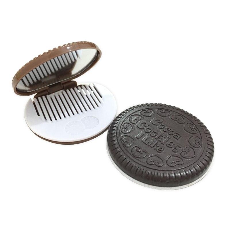 Lijken Oreo Draagbare Cartoon Chocolade Kleine Spiegel Super Leuke Sandwich Koekje Make-upspiegel Pocket Spiegel Modellering Levensechte