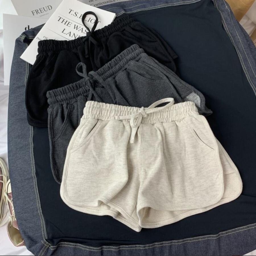 LISCN 2020 Summer Student New Loose And Thin Hot Pants Women Korean Casual Home Sports Shorts Wide Leg