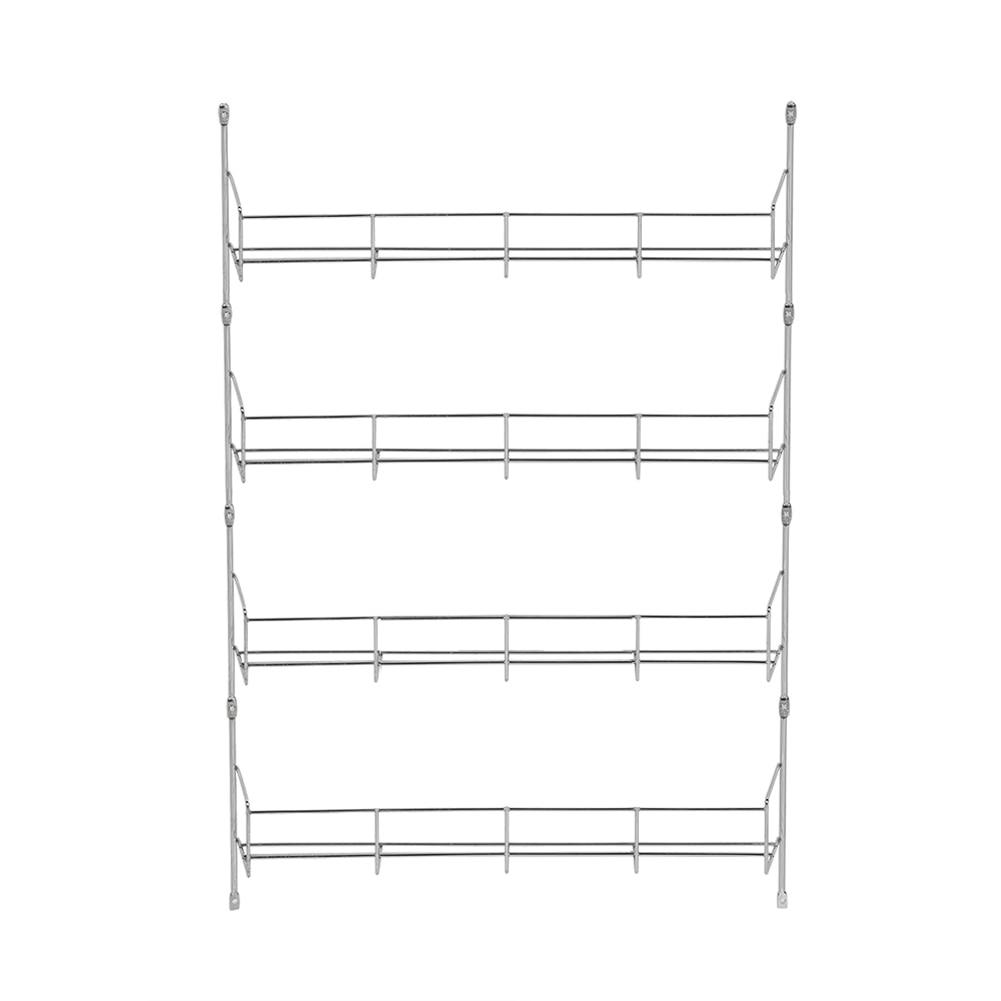 4/5/6 Layers Wall Mount Spice Storage Organizer Pantry Kitchen Standing Rack Shelf Holder