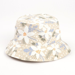 Printing fisherman bucket hat Flower fisherman hat cotton and linen printing basin hat summer outdoor leisure all-match sun hat