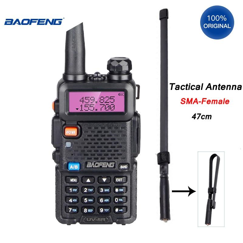 Портативная рация Baofeng, профессиональная Складная антенна, 8-10 км, КВ трансивер, 5 Вт, VHF, UHF, портативная двухсторонняя любительская радиостан...