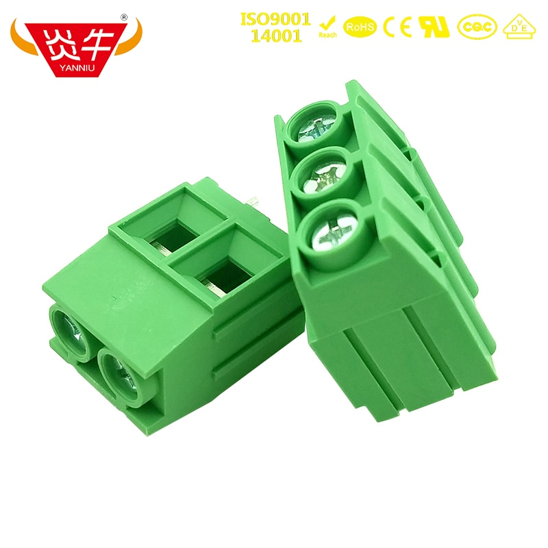 KF136T 10.16 2P 3P PCB CONNECTOR UNIVERSAL SCREW TERMINAL BLOCKS DG136T 10.16mm 2PIN 3PIN MKDSP 10HV 1929517 PHOENIX CONTACT