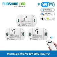 FUNSHION     recepteur Wifi 433 92MHz pour telephone Mobile  commutateur relais 110V 220V  Module de minuterie  application Tuya pour maison intelligente  433 Mhz