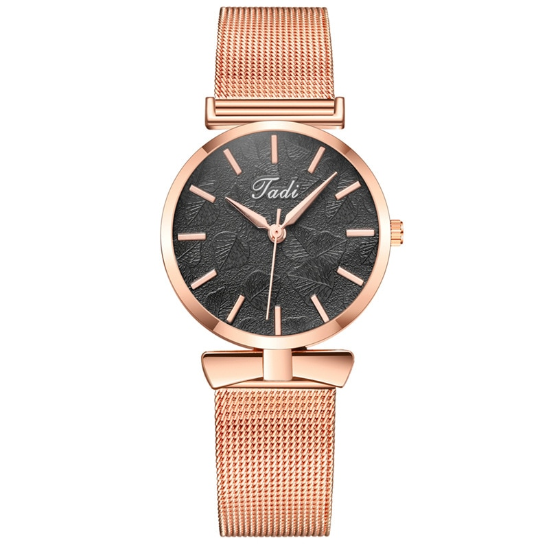 YUNAO 2021 New Korean Version of Leaf Pattern Embossed Ladies Watch Casual Watch Hot Style Personality Fashion Watch Women enlarge