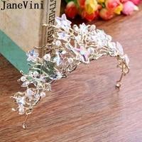 janevini gold star bridal tiaras and crowns baroque pearls crystal women princess hairbands wedding jewelry haarschmuck braut