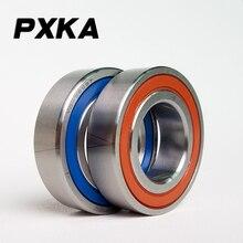 Livraison gratuite 1 paire 7204 7204C-2RZ-P4-DTA 20x47x14 roulements à Contact oblique scellés roulements de broche de vitesse CNC ABEC 7