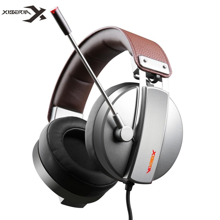 Xiberia s22 pro pc gamer fones de ouvido jogos com microfone para computador usb 7.1 surround som jogo fone graves casque