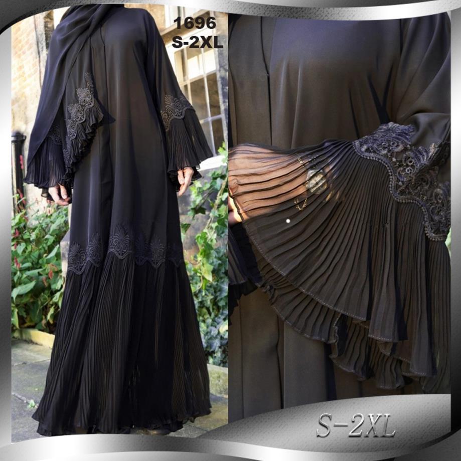 عباية-فستان طويل مطرز بكسرات للنساء المسلمات ، كارديجان ، مقاس كبير ، عصري ، للصلاة الإسلامية ، مع حزام ، F953