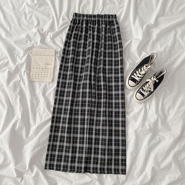 Mooirue весенние женские брюки шашки повседневные 2020 новые корейские эластичные с высокой талией свободные широкие штаны|Женская одежда|| | АлиЭкспресс