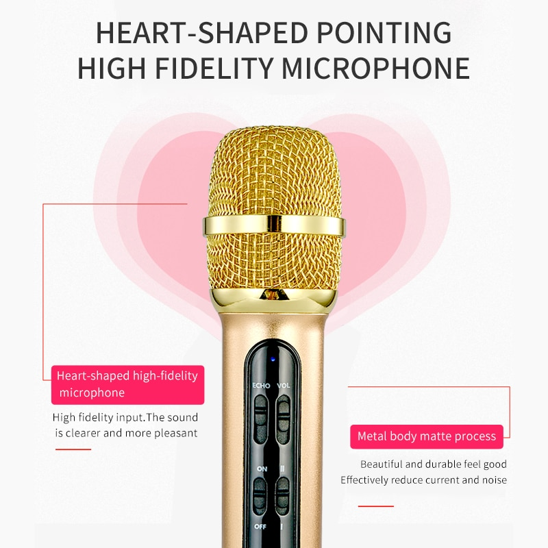 Portable Professional Karaoke Condenser Microphone Sing Recording Live Microfone For Mobile Phone Computer With ECHO Sound Card enlarge