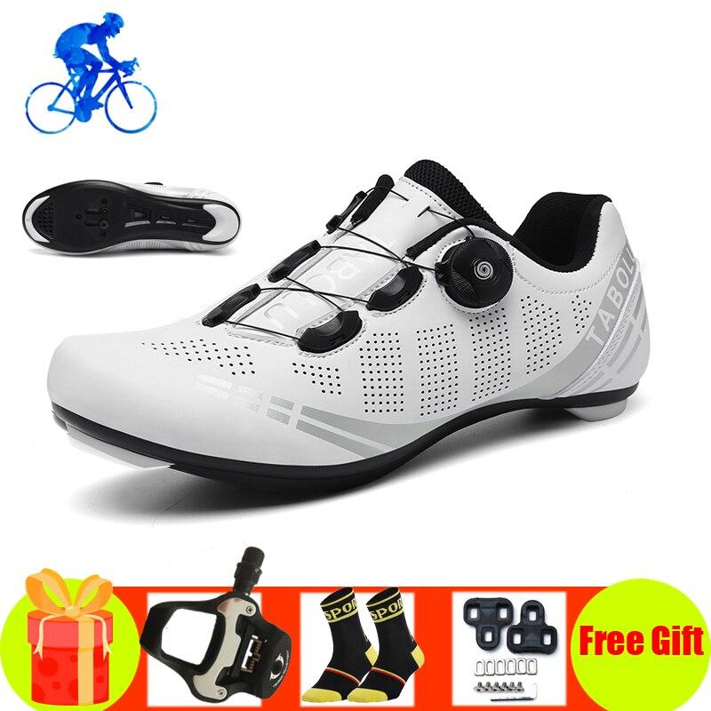 Zapatos de ciclismo de carretera transpirables para hombre y mujer, calzado de...