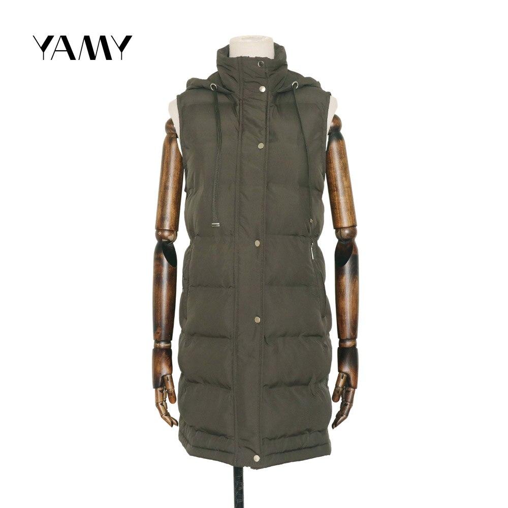 Новая женская куртка без рукавов с капюшоном, пальто с широкой талией, повседневная женская верхняя одежда zora vicky, женская зимняя Толстая ку...