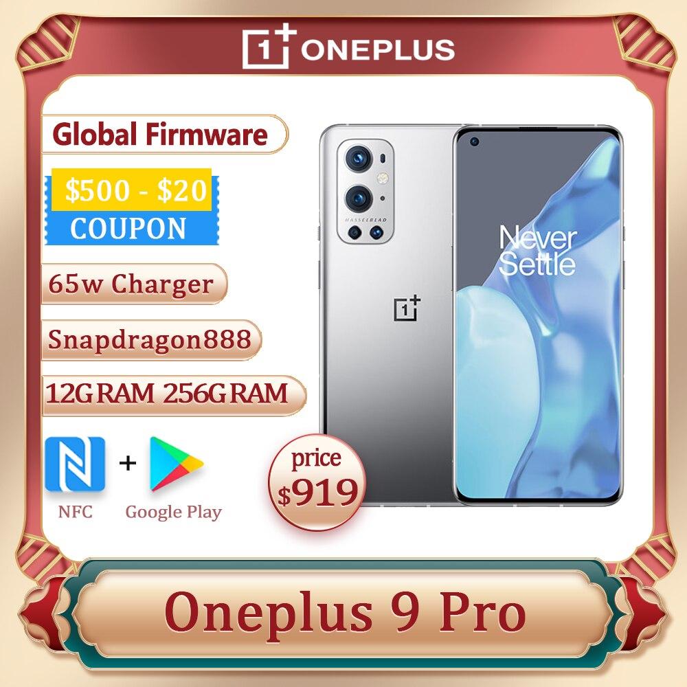 Оригинальная глобальная прошивка Oneplus 9 Pro 5G смартфон Oxygen оs 6,7 дюймов AMOLED Snapdragon 888 Octa Core 65 Вт, сделана в городе Чжуншань, быстрая зарядка