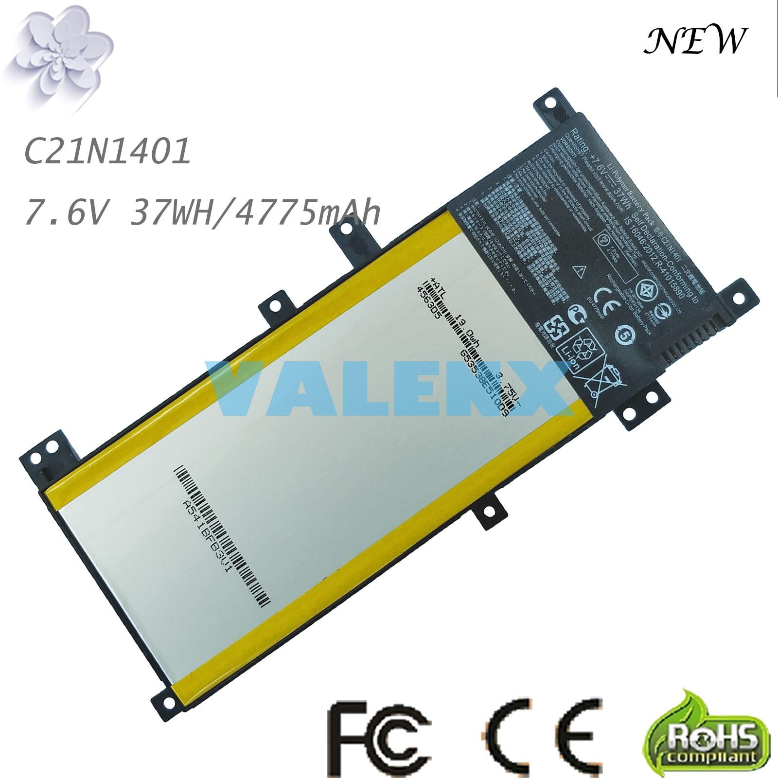 C21N1401 batería para ASUS X455L X455LA X455LD X455LF X455LN F455L F455LD R455LD Y483L Y483LD A556U W419L PP21AT149Q-1
