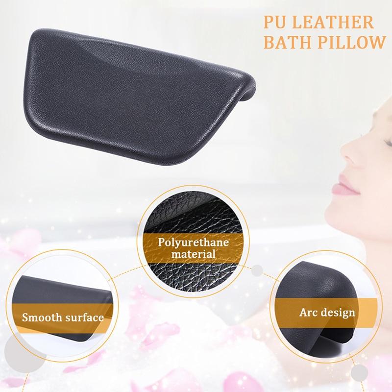 Oreiller de bain Spa chaud, coussin de bain en polyuréthane avec ventouses antidérapantes, appui-tête Spa ergonomique pour se détendre la tête, le cou, le dos